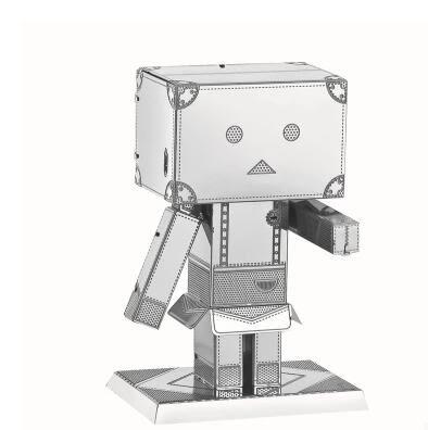 紙箱人阿楞3D金屬拼圖模型  成人益智拼裝玩具創意新奇特【全館免運】