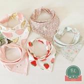 3條裝 寶寶口水巾三角巾嬰兒純棉按扣圍巾吸水圍嘴【聚可爱】