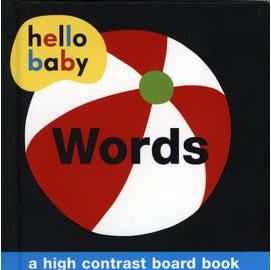 【寶寶認知學習書】HELLO BABY:  WORDS /硬頁書 (單彩色圖像刺激)