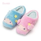 日本限定 三麗鷗 KIKI LALA 雙子星 大臉版 蓄熱保溫 室內拖鞋