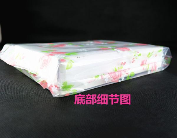 10入玫瑰花 塑膠手提袋 包裝袋 PE袋 禮品袋 婚禮小物 派對袋D064