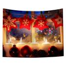 聖誕布置/交換禮物/送1.5米星星燈//聖誕節布置裝飾掛布-聖誕掛飾(沙灘巾 背景布 )【半島良品】