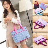 帆布手提包女包新款韓版拎袋百搭大容量包包單肩小布包媽媽包 艾美時尚衣櫥