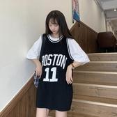 夏季2020新款韓版網紅T恤女ins超火寬鬆運動背心打底衫無袖上衣潮