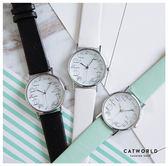 Catworld 貓咪刻度皮質手錶【18002807】‧F