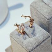 戒指 玫瑰金純銀 鑲鑽-唯美氣質生日情人節禮物女飾品73by62[時尚巴黎]