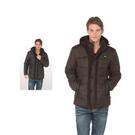 【SAMLIX 山力士】男 美國PRIMALOFT超輕暖保溫棉時尚外套(#65214咖啡色.黑色)