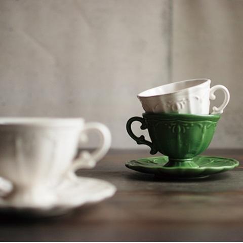 KINTO COURONNE杯盤組(共三色) 咖啡杯 午茶時光 咖啡盤 精品茶器 瓷杯 好生活