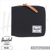 Herschel 皮夾 / 短夾 Walt-001 黑色 全拉鍊短夾   MyBag得意時袋
