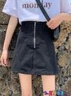 牛仔短裙 港味半身裙女高腰春季新款寬鬆顯瘦包臀短裙大碼超火的牛仔裙寶貝計畫 上新