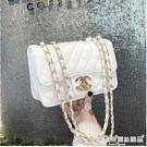 小方包 2020新款潮韓版菱格錬條包小香風側背斜背包包女包夏季百搭小方包 愛麗絲