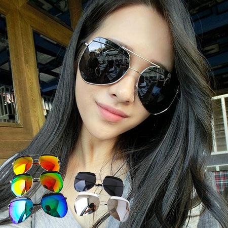 帥氣時尚 炫彩特殊鏡面反光墨鏡 菱型鏡框 眼鏡 情侶 男女 造型眼鏡