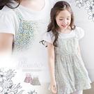 浪漫彩花漾假兩件小洋裝上衣(250783...