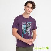 印花短袖T恤08亮桃紅-bossini男裝