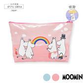 化妝包-日本嚕嚕米Moomin-防水亮面筆袋收納包-粉-玄衣美舖