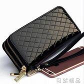 多功能女皮夾大容量雙拉鏈手機包新款錢包女長款橫款卡包 可然精品