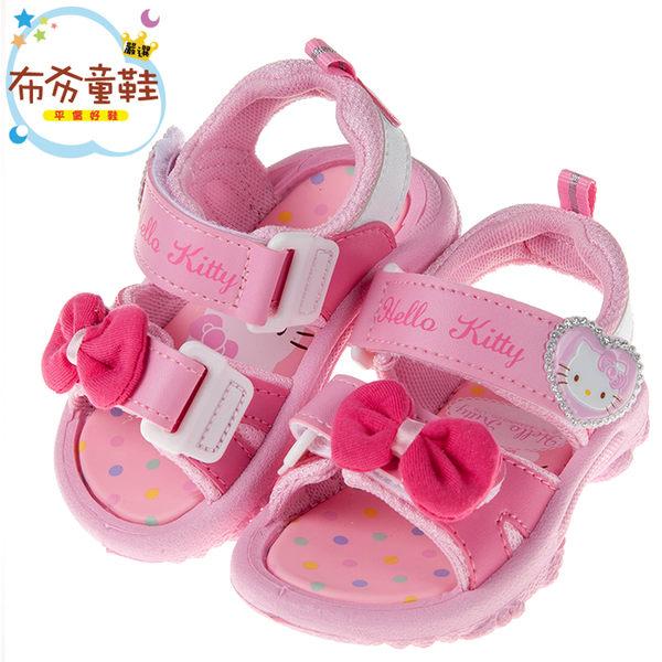 《布布童鞋》HelloKitty凱蒂貓典雅蝴蝶結粉色兒童涼鞋(13~18公分) [ C8A108G ]