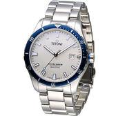 TITONI SEASCOPER系列 潮流潛水機械錶-83985SBB-516