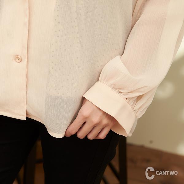 CANTWO圓點兩件式雪紡上衣-共兩色