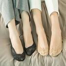 蕾絲襪子 10雙蕾絲硅膠防滑隱形襪薄款船襪不掉跟女襪子淺口船襪棉春夏短襪-Ballet朵朵