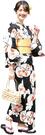 Nishiki【日本代購】和式浴衣+束腰帶2件套 女士成人用 - 金魚