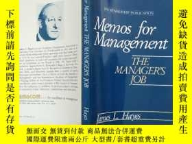 二手書博民逛書店memos罕見for management the manage