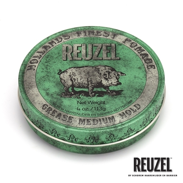 REUZEL Green Pomade Grease 綠豬中強髮油 113g
