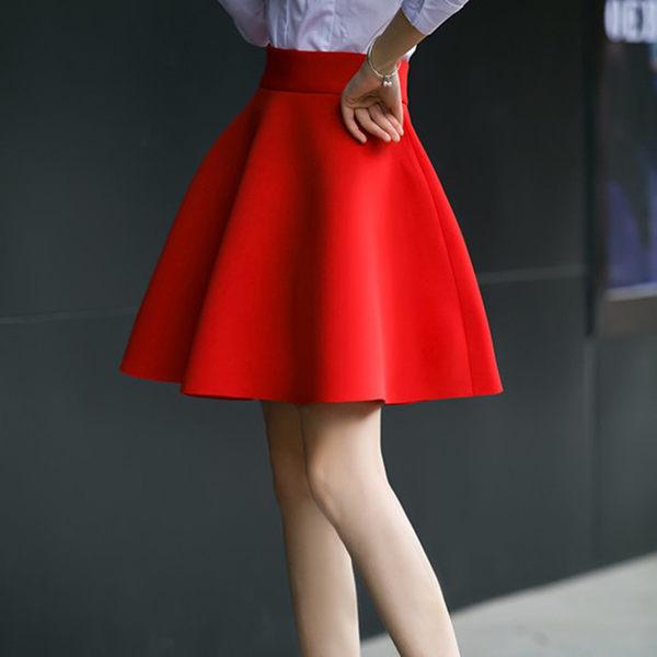 短裙2017春夏新款高大擺傘裙短裙半身裙大碼太空棉百褶蓬蓬裙太陽裙【時尚家居館】