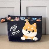 Kiro貓 柴犬寶寶 鋪棉 拉鍊 手提收納包/化妝包【820178】