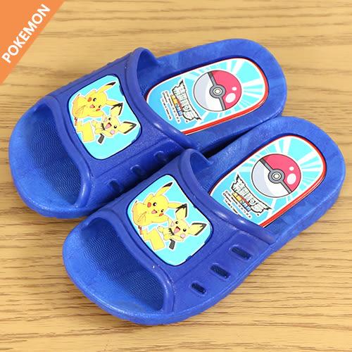 男童 Pokémon 神奇寶貝 皮卡丘 室內外兩穿 防滑輕量 浴室拖鞋 室內拖鞋 平底拖鞋 59鞋廊