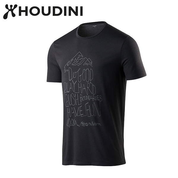 瑞典【Houdini】M`s Big Up Message Tee 黑  237894