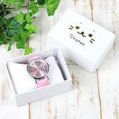 [PET PARADISE] 日本Sirotan 小白太郎 小海豹  滿版小海豹手錶-皮革錶帶-粉色