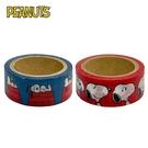 【日本正版】史努比 紙膠帶 15mm寬 日本製 手帳貼 Snoopy PEANUTS 305101 305118