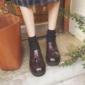 單鞋夏秋新款小皮鞋黑色樂福鞋女英倫一腳蹬復古流蘇PU皮單鞋女鞋