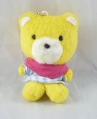【震撼精品百貨】Sanrio_黃熊~娃娃吊飾『格紋』