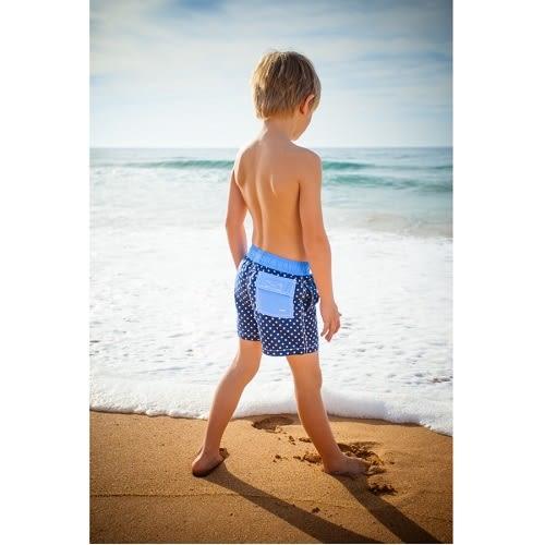 兒童泳衣 游泳短褲 網狀內裡可下水不卡黏  懷舊夏威夷系列 Xtra Life萊卡 UPF 50+抗UV (小男4-14歲)