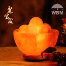 鹽燈 喜馬拉雅水晶鹽聚寶盆財富裝飾臺燈擺件天然負離子巖燈礦石最後幾天!