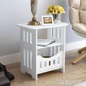 床頭柜現代簡約北歐式床頭柜臥室小圓桌客廳茶幾igo  夢想生活家