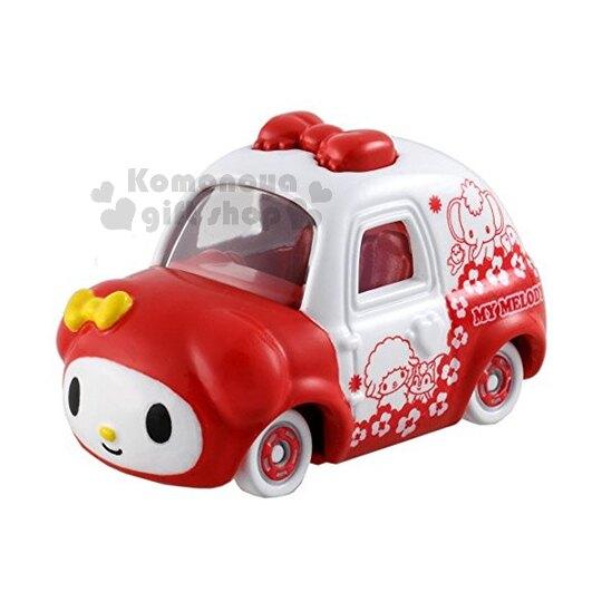 〔小禮堂〕美樂蒂 TOMICA小汽車《紅白.花.朋友.小紅帽特別版》經典造型值得收藏 4904810-84242
