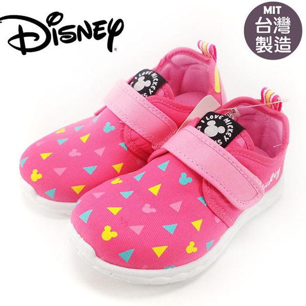 童鞋正版迪士尼Disney滿版大頭米奇兒童休閒鞋.便鞋.室內鞋.粉15-20公分