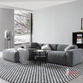 L型沙發 北歐羽絨布藝沙發客廳三人位小戶型轉角L型組合現代簡約乳膠沙發T 多色