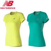 New Balance Dry 女 螢光 綠 經典 NB LOGO 短袖上衣 大學T 短T 運動上衣 AWT81200SRY AWT81200TDP