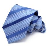 商務正裝男職業上班工作條紋藍色懶人易拉得領帶 DA3286『伊人雅舍』