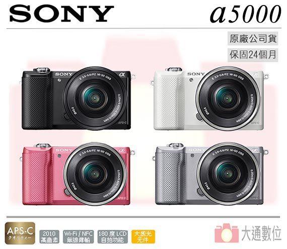 SONY ILCE-5000L A5000 現貨 公司貨 贈64G高速卡+原廠電池+復古皮套+座充+拭鏡筆+UV保護鏡+吹球組全配