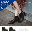 靴.前小V口粗跟短靴-FM時尚美鞋-韓國...
