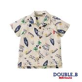 DOUBLE_B 黑熊ALOHA短袖襯衫