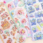 PGS7 日本迪士尼系列商品 - 日貨 迪士尼 柔軟 立體 貼紙 奇奇蒂蒂 小美人魚 三眼怪【SHZ71546】
