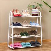 歐式鐵藝防塵宿舍鞋架家用多層簡易收納拖鞋架簡約鞋柜xx7507【雅居屋】TW