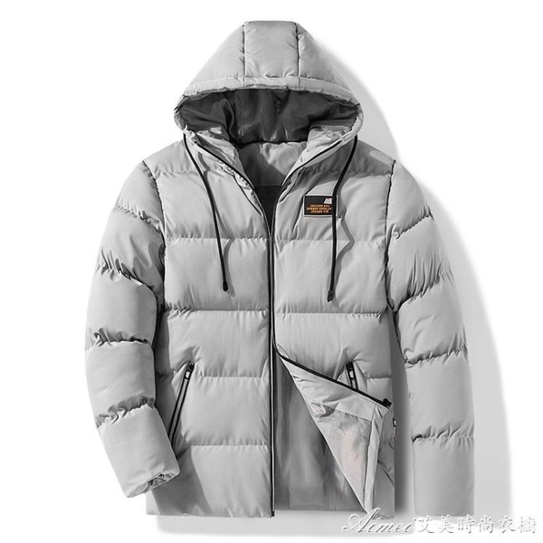 羽絨外套新款棉衣男士冬季韓版加厚羽絨棉服短款棉襖子男裝連帽外套 快速出貨