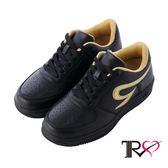 【TRS】皮感素面百搭女款內增高休閒鞋 ↑6cm 黑(5600-0228)